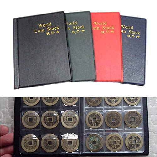 Meka-supplies - Album for 120 Coins Holder Collection Penny Tokens Medallions Badges Album Book Pockets Storage Collector Supply Case 3.3x3.3cm