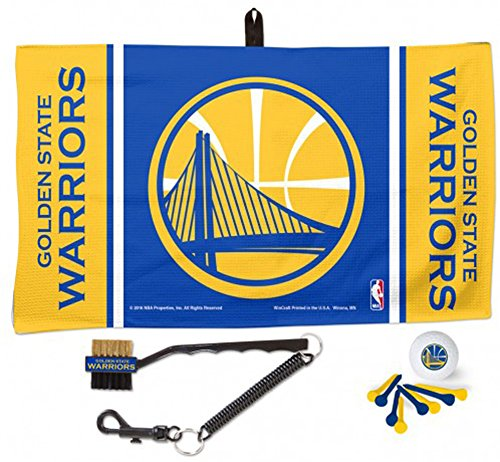 WinCraft Golden State Warriors NBA Waffle Towel Golf Gift Set Pro Team Pack by WinCraft
