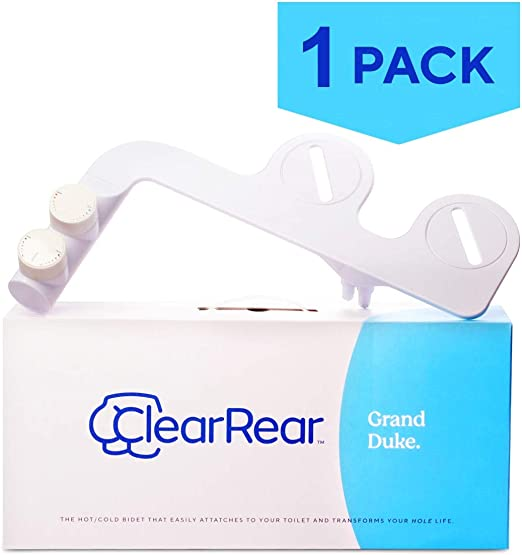 Amazon Com Clear Rear The Grand Duke Hot Cold Bidet Toilet Attachment 1 Pack Fresh Water Non Electric Mechanical Bidet Sprayer W Self Cleaning Nozzle Adjustable Pressure Settings Home Kitchen