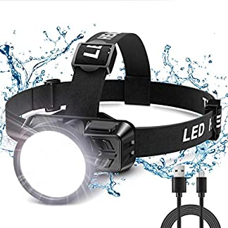 Babacom Head Torch, USB Rechargeable Led Super Bright Head Torch, 300 Lumens, 4 Lighting Modes, IP42 Waterproof… 8