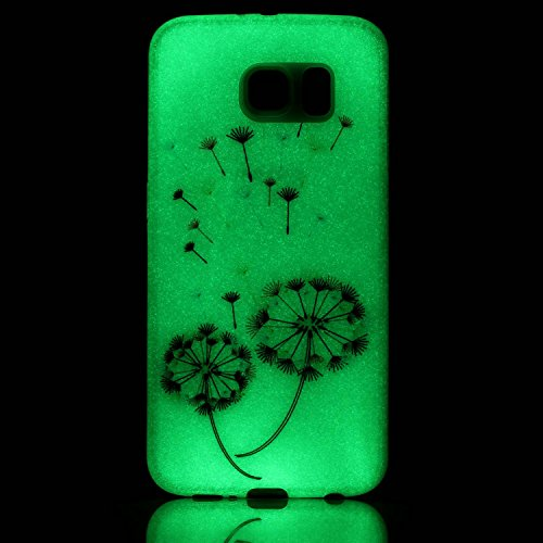 Ecoway Noctilucent Luminous Carcasa Ultra TPU Funda Case for Samsung Galaxy S3 Neo GT-I9301 GT-i9300 , Ultra Thin Carcasa Anti Slip Soft Bumper Scratch Resistant Back Cover Crystal Clear Flexible Sili Dientes de león coloridos