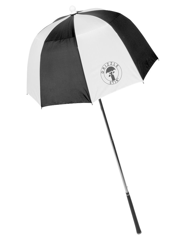 J & M Drizzle Stik Flex Umbrella (Black/White)