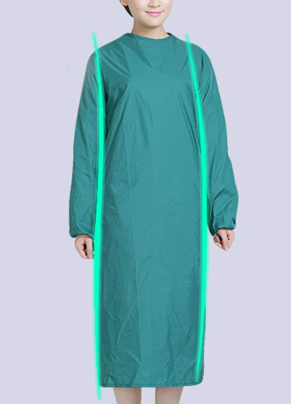 GettyGears Lab Gown with Elastic Cuff Medical Gown Waterproof Surgical Gown Wear Resistant Isolation Gowns Protective Clothing 2XL Blue