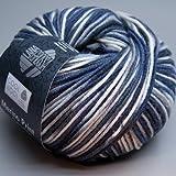 Lana grossa pelote à tricoter en laine mérinos très fine cool wool 753/gris foncé-laine à tricoter blanc 50 g
