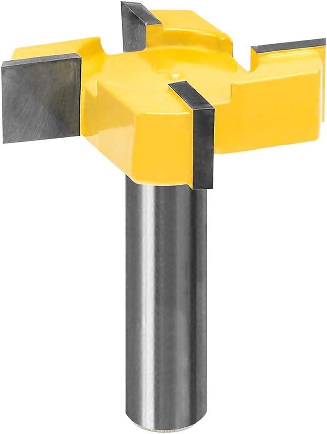 Hartmetall-Spitze 1 Packung Moonvvin CNC-Spoilboard Oberfl/ächenfr/äser mit 1//2-Zoll-Schaft strapazierf/ähig