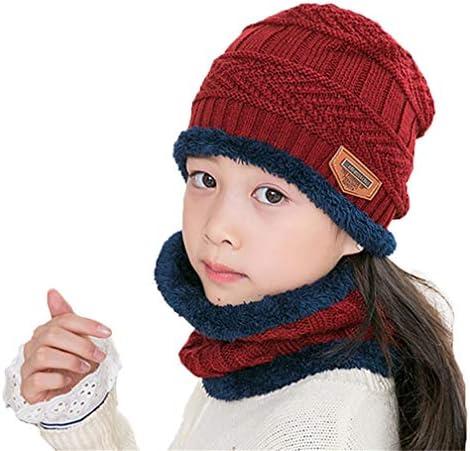 TMEOG Wintermuts voor kinderen warme beanie gebreide muts en sjaal voor kinderen jongens en meisjes