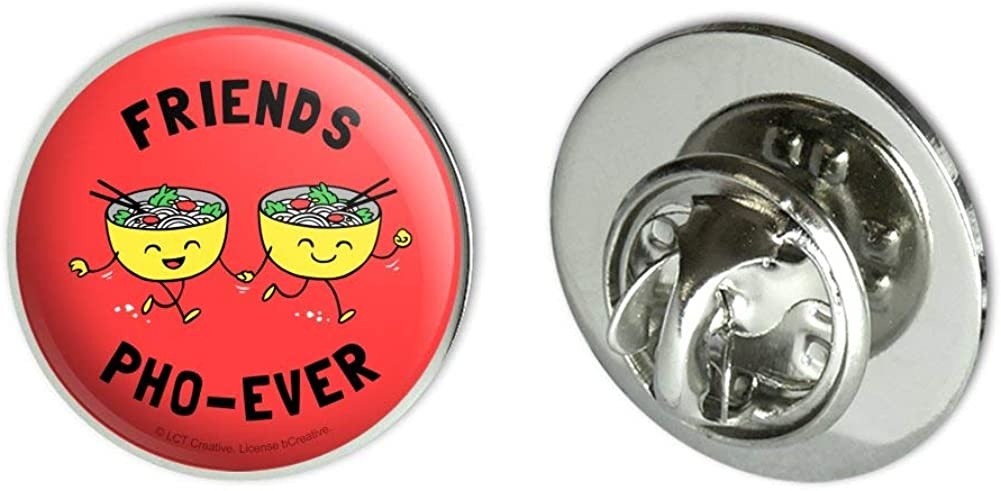"""GRAPHICS & MORE Friends Pho-Ever Forever Noodle Soup Funny Humor Metal 0.75"""" Lapel Hat Pin Tie Tack Pinback"""