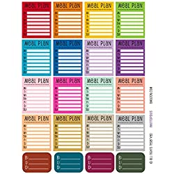 Monthly Planner Stickers Rainbow Meal Planning Stickers Planner Labels Compatible with Erin Condren Vertical Life Planner