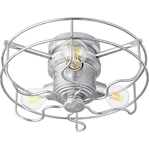 (Quorum 1905-9 Windmill 3-Light Kit LED, 18 Total Watts, Galvanized)