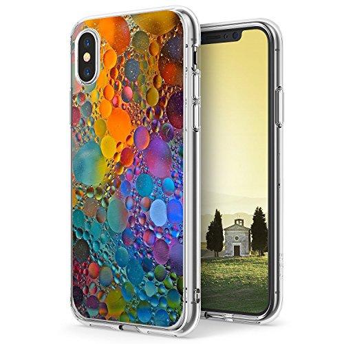 Croazhi iPhone X Case Ultra-Thin Back Case Marble Design Printed Clear Bumper TPU Anti-Scratch for Apple iPhone X/10 (8, iPhone X)