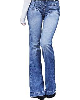 Suvimuga Las Mujeres De Baja Altura Jeans Pantalones Largos ...