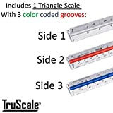 Triangular Architectural Scale Aluminum Ruler for