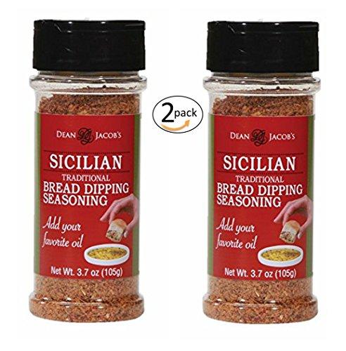 Dean Jacob's Sicilian Bread Dipping Seasoning ~ 3.7 oz. Stacking Jar 2 -