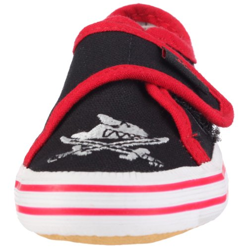 Captn Sharky 140006 Jungen Gymnastikschuhe Schwarz (Schwarz/Rot)