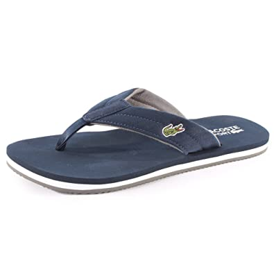10af934ba687 Lacoste Randle Frs Mens Canvas Flip Flops Dark Blue - 9  Amazon.co.uk   Shoes   Bags