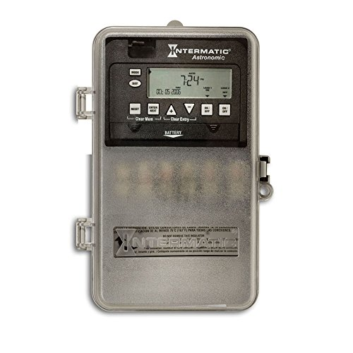 (Intermatic ET8215CPD82 7-Day 30-Amp 2 Circuit SPST or DPST Electronic Astronomic Time Switch, Clock Voltage 120-277 VAC, NEMA 3R Plastic Cover, 2-Circuit/30-Amp, Gray)