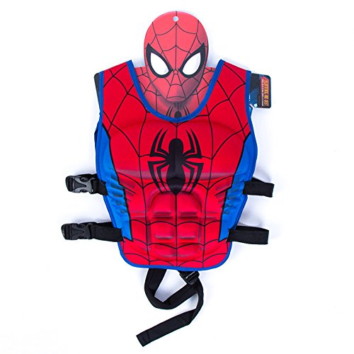 JKSPORTS Children Float Swimming Aid Life Jacket Learn-to-Swim Buoyancy Aid Vest Children Float Vest Kids Swimming Training Jacket Learn to Swim for Boys Girls (Spiderman M Code) ()