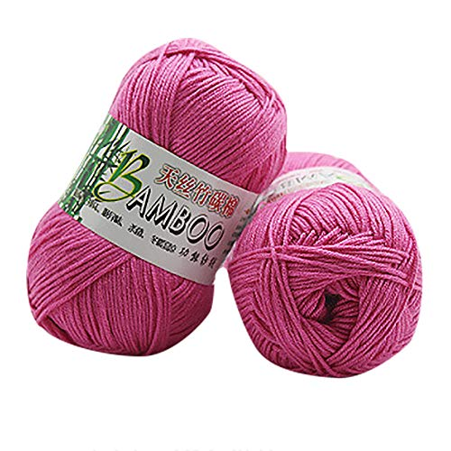 Worsted Weight Sock Yarn - Ecosin Luxuriously Soft for Knitting, New 100% Bamboo CottonKnitting Crochet Soft Baby Cotton Wool Yarn (G)