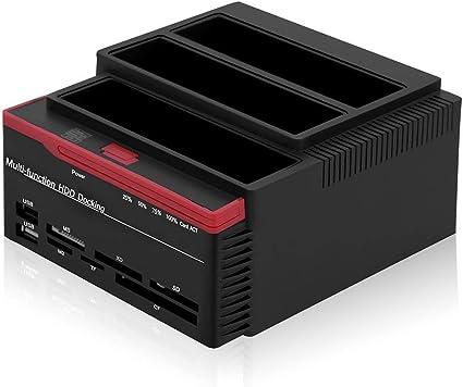 Tonysa Estación de Disco Duro / 2.5inch 3.5inch Dual-Bay USB3.0 ...