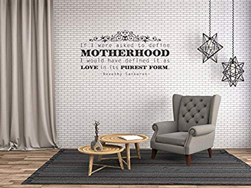 Art Quote Saying Home Motherhood Wall Decals Mural Decor Vinyl Sticker SK5479