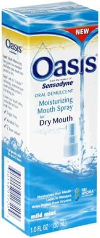 Oasis Mouth Moisturizing Spray, Mild Mint, 1 Fl oz (30 ml) (Pack of 3)