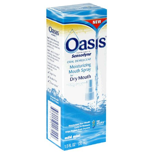 Oasis Mouth Moisturizing Spray, Mild Mint, 1 Fl oz (30 ml...