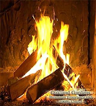 Crackling leña fragancia aceite - cálido madera combinado ...