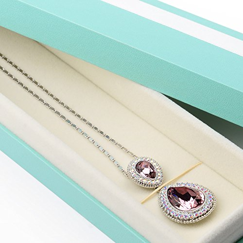Oirlv Velvet Bow-knot Long chain Necklace Storage Box Jewelry Packaging Gift Box Showcase Display by Oirlv (Image #2)