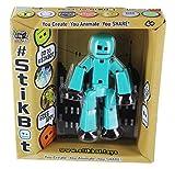 Stikbot Solid Aqua Blue Action Figure Light Animation Toy Social Media Skitbot Stick Bot