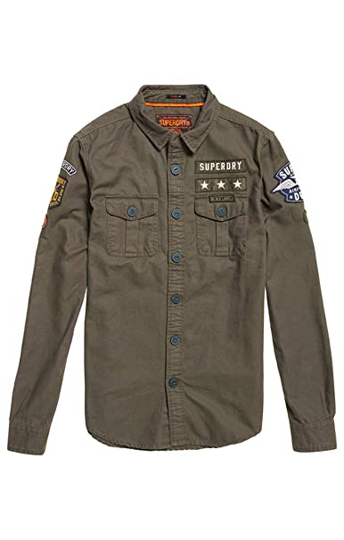 Superdry Military Storm Shirt, Camisa Deportiva para Hombre: Amazon.es: Ropa y accesorios