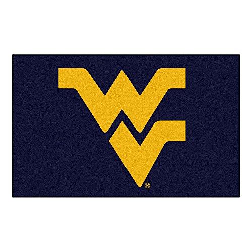 (FANMATS NCAA West Virginia University Mountaineers Nylon Face Ultimat Rug)