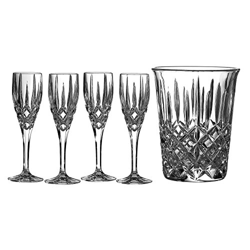 (Royal Doulton Crystal Champagne Ice Bucket Set with 4 Champagne Flutes)