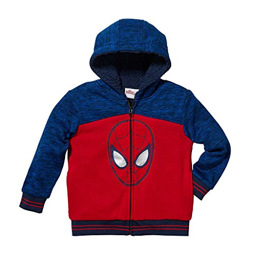Marvel Boys Character Sherpa Hoodie Spiderman Head 4T