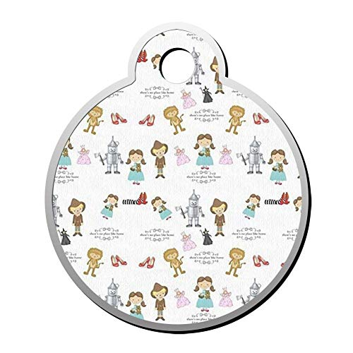 BSARRE Wizard of Oz Cooler Dog Cat Tags Personalized Double Sided Stainless Steel Round Pet ID Tag ()