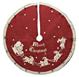 Primitives by Kathy Vintage Tree Skirt, Santa and Sleigh