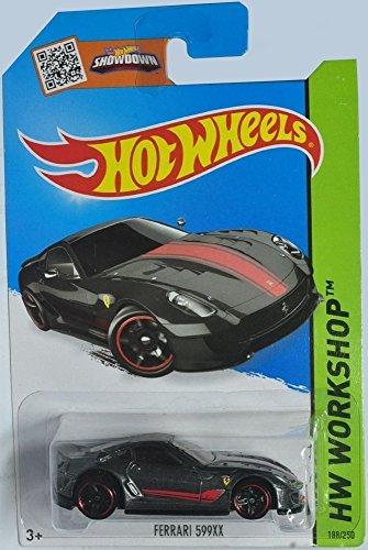 Hot Wheels 2015 HW Workshop Ferrari 599XX 188/250, Dark Gray (Value Of Hot Wheels Treasure Hunt Cars)