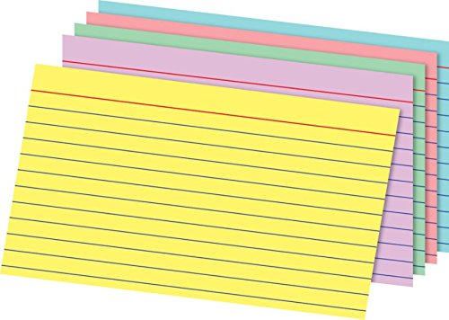 Office Depot Card - Office Depot Brand Rainbow Index Cards, Ruled, 5