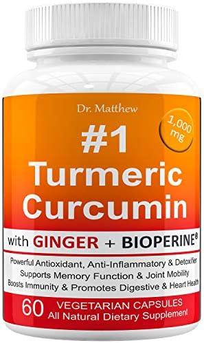 Turmeric BioPerine Curcuminoids Anti inflammatory Antioxidant