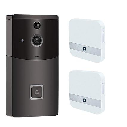 Timbre Video Wifi, Inteligente Timbres Para Puerta Contiene Hd720p Cámara De Seguridad HD, Visión