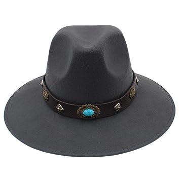 Sombrero para el Sol Moda Estilo Nacional Metal Remache Hebilla de ...
