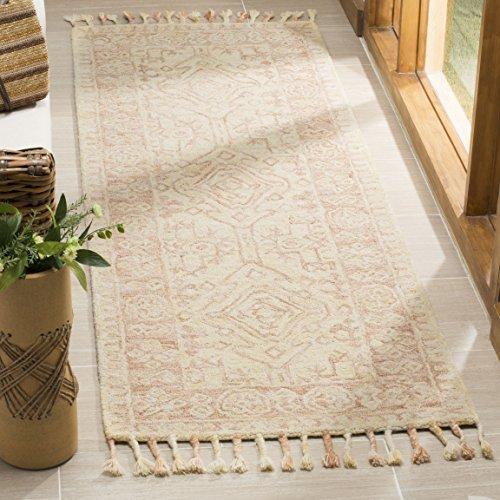 (Safavieh Aspen Collection APN225A Ivory and Blush Premium Wool Runner (2'3' x 7'))