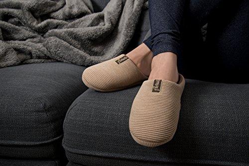 Aerosi Trento Maison / Spa Confortable Slip Sur Pantoufles Tan / Marron