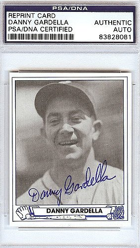 Danny Gardella Signed 1945 Play Ball Reprint Trading Card #36 New York Giants - Certified Genuine Autograph By PSA/DNA - Autographed Baseball Card from ItsAlreadySigned4U