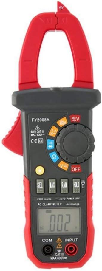 Digital Multi Tester FY2008A Handheld Digital Clamp Meter Multimeter AC//DC Volt Ohm Temp Current Voltage NCV Tester Resistance Ammeter Multitester