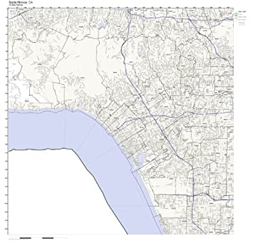 santa monica ca zip code map laminated home kitchen