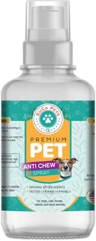 Premium Pet No Chew Spray for Dogs and Cats-Anti Chew Spray Behavoral Aid & Dog Repellent Training for Biting and Chewing [8OZ]