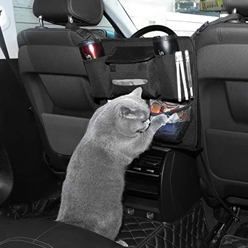 Driver Storage Netting Pouch KALASONEER Dog Car Barrier 3-Layer Car Mesh Organizer Normal Size Seat Back Net Bag Cargo Tissue Net Holder Barrier of Backseat Pet Kids