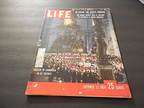 Life October 27 1958 Moon Shot Failure;Pope Dies In Color;Nixon Shakes Things (27 Shot Magazine)