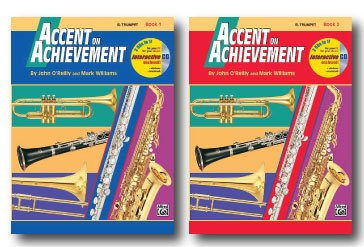 (Accent On Achievement with Interactive CD for Trumpet Bb- Two Book Set - Includes Book 1 and Book 2)