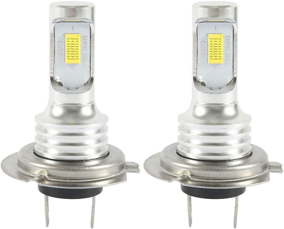 Dightyoho 2PCS H7 Bombillas LED Coche para Coche Faros Delanteros 70W 6000K 4000LM Luz Blanco